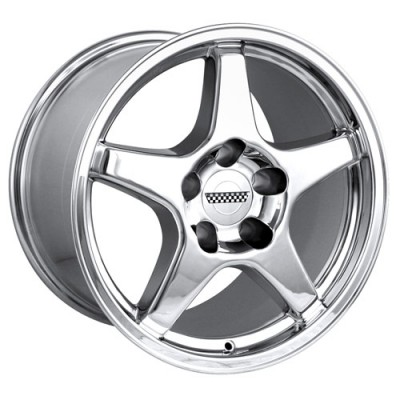 Detroit  840 Chrome wheel (17X9.5, 5x120.65, 70.7, 38 offset)