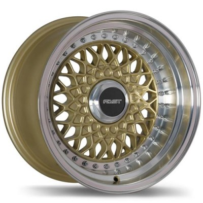 Fastwheels Royale Gold with Machined Lip/Or avec rebord machiné, 15x8.0, 3x112 (offset/deport 0), 72.6