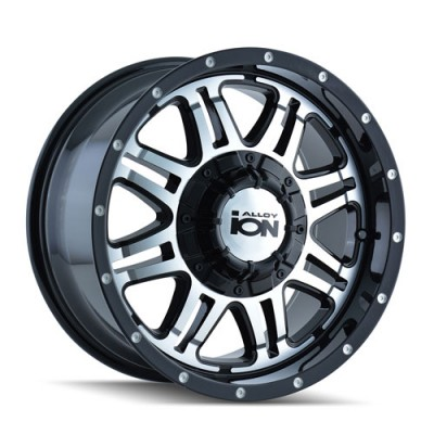 Alloy Ion 186 Machine Black wheel (18X9, 6x139.7, 108.1, -12 offset)