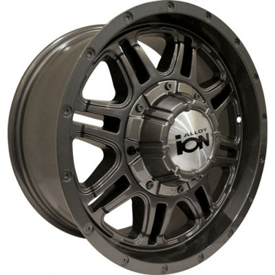 Alloy Ion 186 Gun Metal wheel (18X9, 6x139.7, 108.1, 18 offset)