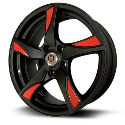 IXION IX003 Black Red wheel (17X7, 5x114.3, 73, 45 offset)