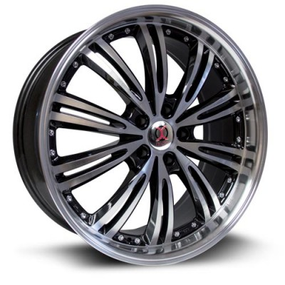 RTX Wheels IX005 Machine Black wheel (18X8, 5x114.3, 73.1, 45 offset)