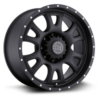 Black Rhino Lucerne Matte Black wheel (17X9, 8x165.1, 122, 12 offset)