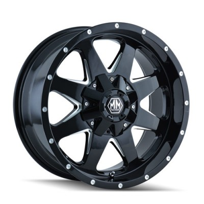Mayhem TANK Machine Black wheel (17X9, 6x139.7, 108.1, -12 offset)