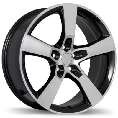 Replika Wheels R129A Machine Black wheel (20X8, 5x120, 67, 35 offset)