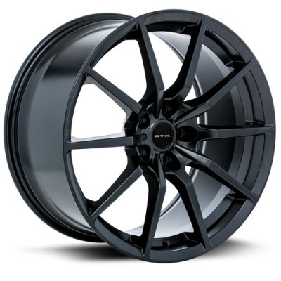 RTX Wheels 350, Noir Satine/Satin Black, 19X10, 5x114.3 ( offset/deport 40), 70.6