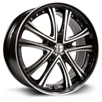 RTX Wheels Allure Machine Black wheel (18X8, 5x114.3, 73.1, 45 offset)