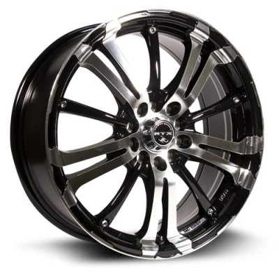 RTX Wheels Arsenic, Noir Machine/Machine Black, 15X6.5, 4x100/114.3 ( offset/deport 40), 73.1