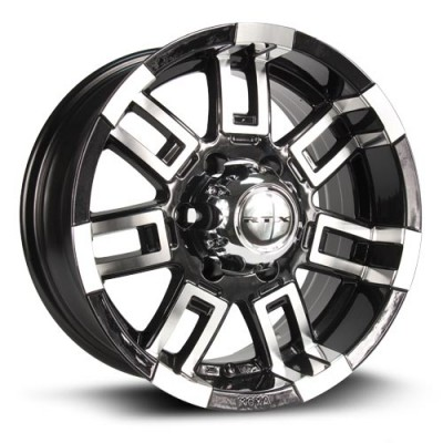 RTX Wheels Crush Machine Black wheel (16X8, 5x114.3, 73.1, 12 offset)