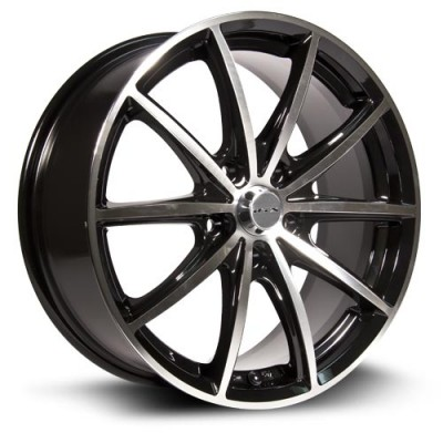 RTX Wheels Forza Machine Black wheel (15X6.5, 5x114.3, 73, 45 offset)