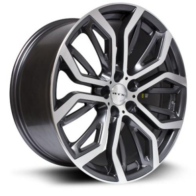 RTX Wheels Haan Dark Grey Machine wheel (19X9, 5x120, 74.1, 48 offset)