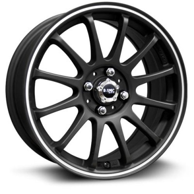 RTX Wheels Halo Machine Black wheel (16X7, 5x114.3, 73.1, 39 offset)