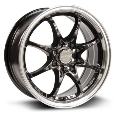 RTX Wheels Jet, Noir Machine/Machine Black, 15X6.5, 4x100/114.3 ( offset/deport 38), 73.1