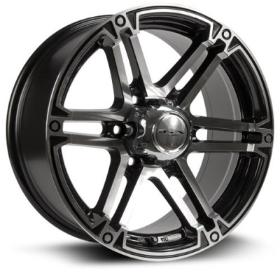 RTX Wheels Slate Machine Black wheel (17X8, 6x139.7, 106.1, 25 offset)