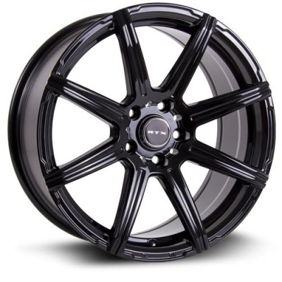 RTX Wheels Compass Black wheel (15X6.5, 5x114.3, 73, 38 offset)