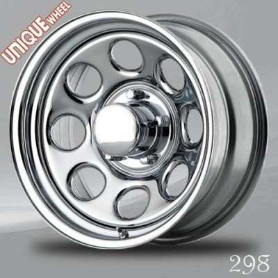 Unique Wheel 298 Chrome wheel (16X8, 8x165.1, 130.81, 0 offset)