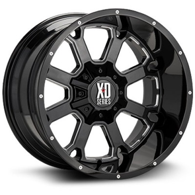 XD Series Buck 25 Machine Black wheel (20X9, 6x135/139.7, 106, 0 offset)