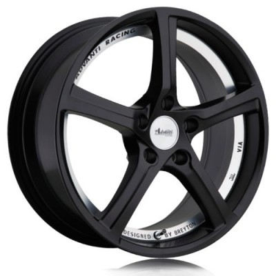 Advanti 15Th Anniversary Matte Black Machine Lip wheel (18X8.0, 5x112, 66.6, 50 offset)