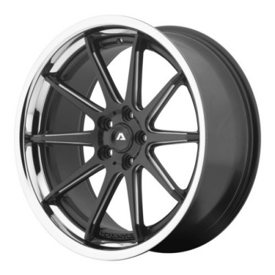 Adventus AVS-4 Black Machine Lip wheel (22X10.5, 5x120, 74.1, 25 offset)