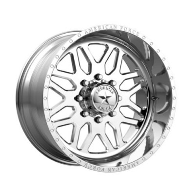 American Force AFWB02 TRAX SS Polished wheel (20X10, 8x165.1, 122, -25 offset)