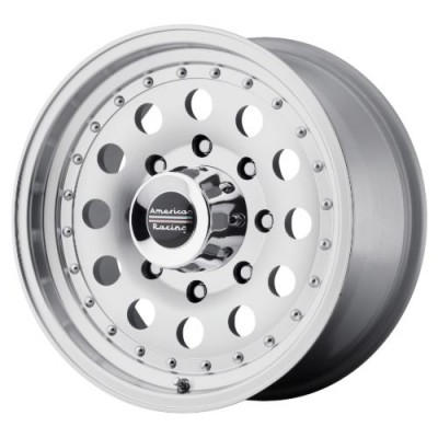 American Racing AR62 OUTLAW II Machine Black wheel (14X7, 4x108, 72.60, 0 offset)