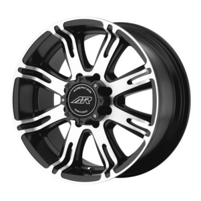 American Racing AR708 Matt Black Machine wheel (17X8.5, 5x114.3, 72.6, 0 offset)
