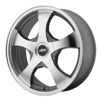 American Racing AR895 Dark Silver Machine wheel (14X6, 5x100/114.3, 72.6, 35 offset)