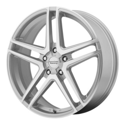 American Racing AR907 Machine Silver wheel (18X8, 5x112, 72.6, 40 offset)
