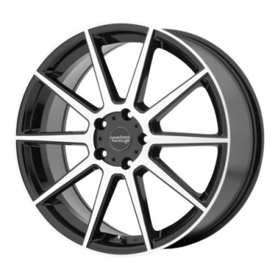 American Racing AR908 Gloss Black Machine wheel (18X8, 5x114.3, 72.6, 40 offset)