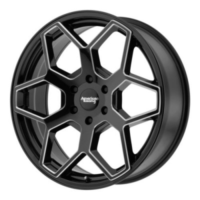 American Racing AR916 Gloss Black Machine wheel | 20X8.5, 6x139.7, 106.25, 35 offset