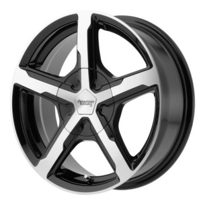 American Racing TRIGGER Gloss Black Machine wheel (17X7, 5x100/105, 72.6, 40 offset)