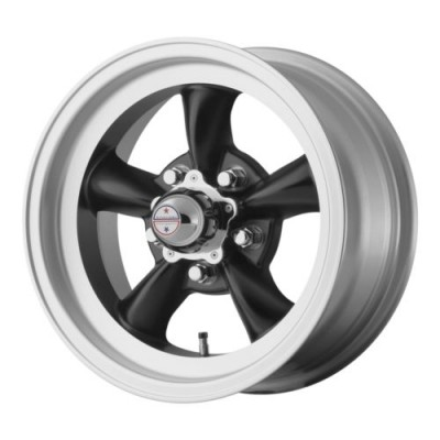 American Racing VN105 TORQ THRUST D Machine Black wheel (14X6, 5x120.65, 83.06, -2 offset)