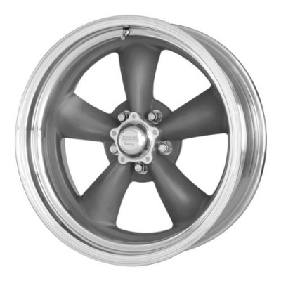 American Racing VN215 CLASSIC TORQ THRUST II 1 PC Machine Grey wheel (15X4, 5x120.65, 83.06, -25 offset)