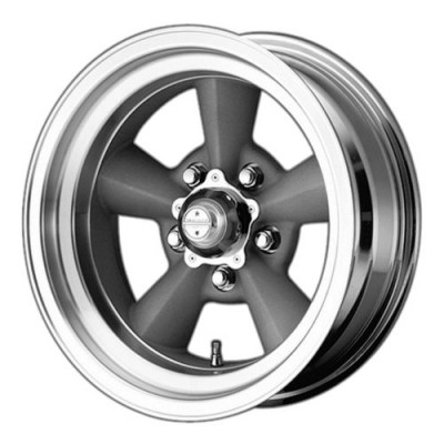 American Racing VN309 TT O Machine Silver wheel (15X8.5, 5x120.65, 83.06, -24 offset)
