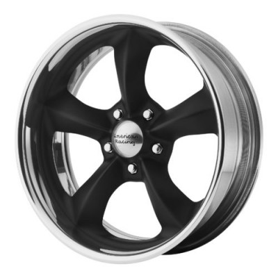 American Racing VN425 TORQ THRUST SL Black Machine Lip wheel (18X12, , 72.60, 0 offset)