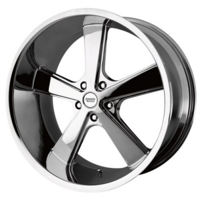 American Racing VN701 NOVA Chrome Plated wheel (17X7, 5x114.3, 72.6, 0 offset)