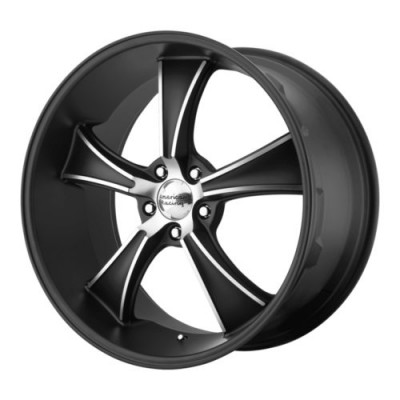 American Racing VN805 BLVD Machine Black wheel (18X9, 5x114.3, 72.6, 30 offset)
