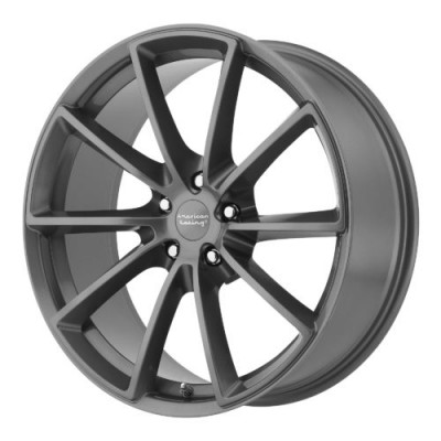 American Racing VN806 FAST BACK Dark Grey Machine wheel (18X9, 5x114.3, 72.60, 38 offset)