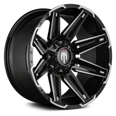American Truxx BOOM Black Machine Lip wheel (18X9, 6x135/139.7, 106.1, -12 offset)