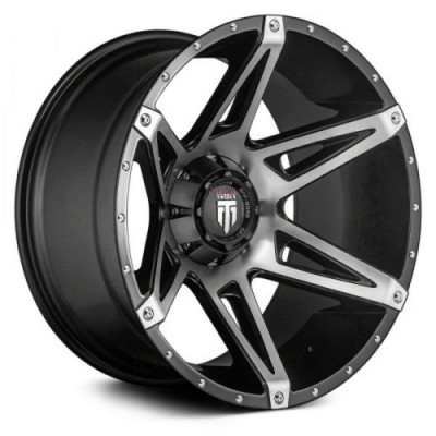 American Truxx KUTZ Machine Black wheel (18X9, 8x165.1, 125.2, -12 offset)