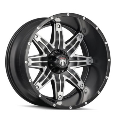 American Truxx LONESTAR Machine Black wheel (20X10, 8x165.1, 125.2, -24 offset)