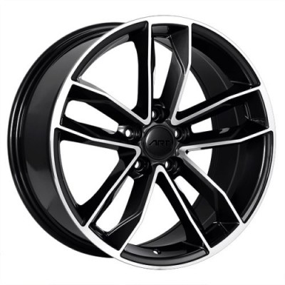 Art Replica Wheels Replica 129 Gloss Black Machine wheel (19X8.5, 5x112, 66.5, 30 offset)