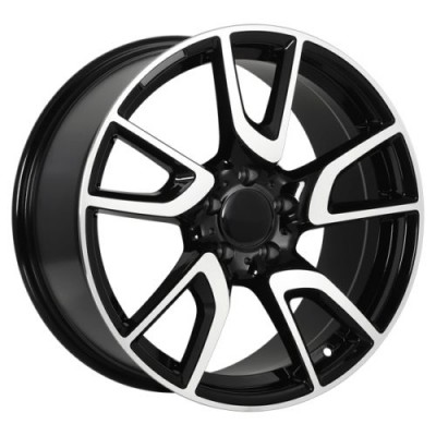 Art Replica Wheels Replica 130 Gloss Black Machine wheel (18X8.5, 5x112, 66.6, 45 offset)
