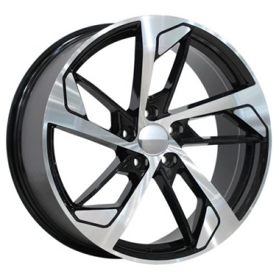 Art Replica Wheels Replica 173 Gloss Black Machine wheel (19X8.5, 5x112, 66.5, 25 offset)