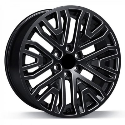 Art Replica Wheels Replica 176 Gloss Black Diamond Cut wheel (22X9.0, 6x139.7, 77.8, 28 offset)