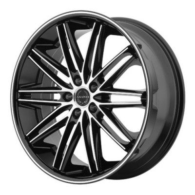 Asanti Black ABL-10 Machine Black wheel (22X9, 5x120, 74.10, 32 offset)