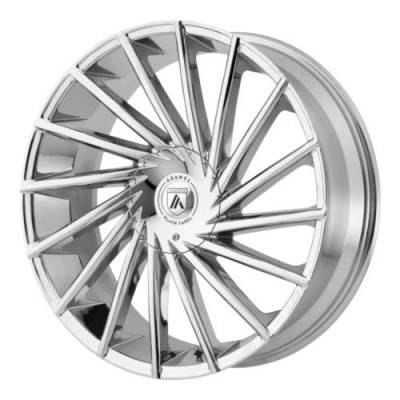 Asanti Black ABL-18 Chrome Plated wheel (20X8.5, , 72.6, 15 offset)