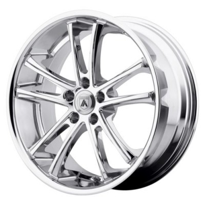 Asanti Black ABL-1 PEGASI Chrome wheel (22X9, , 74.1, 0 offset)