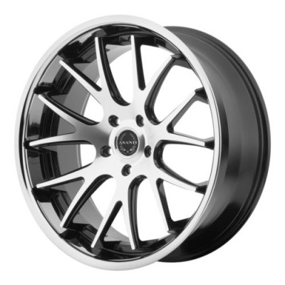 Asanti Black ABL-3 Machine Silver wheel (20X8.5, , 74.1, 0 offset)
