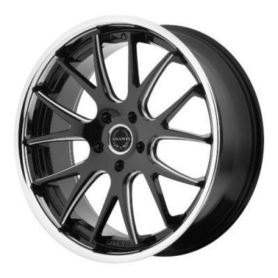 Asanti Black ABL-3 Matt Black Machine wheel (20X8.5, , 74.10, 0 offset)